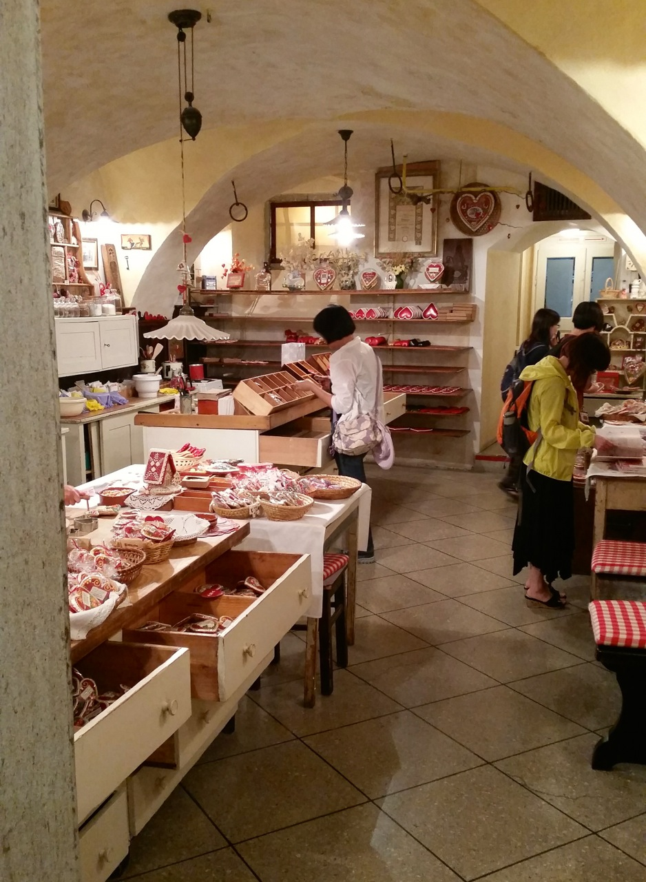 An old-fashioned gingerbread workshop.